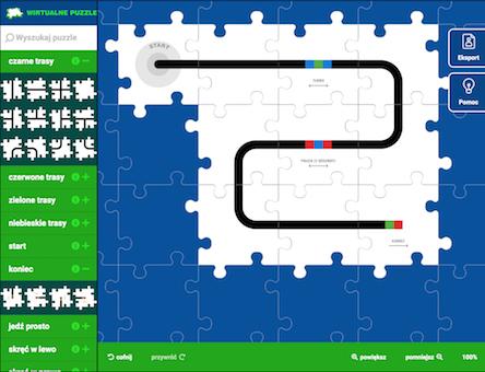 Wirtualne puzzle i symulator robota